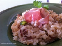 arroz con pistachos y dátiles