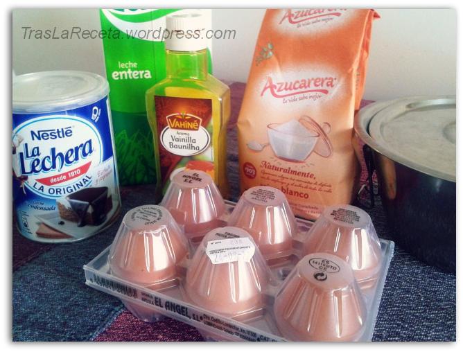 ingredientes para un flan casero