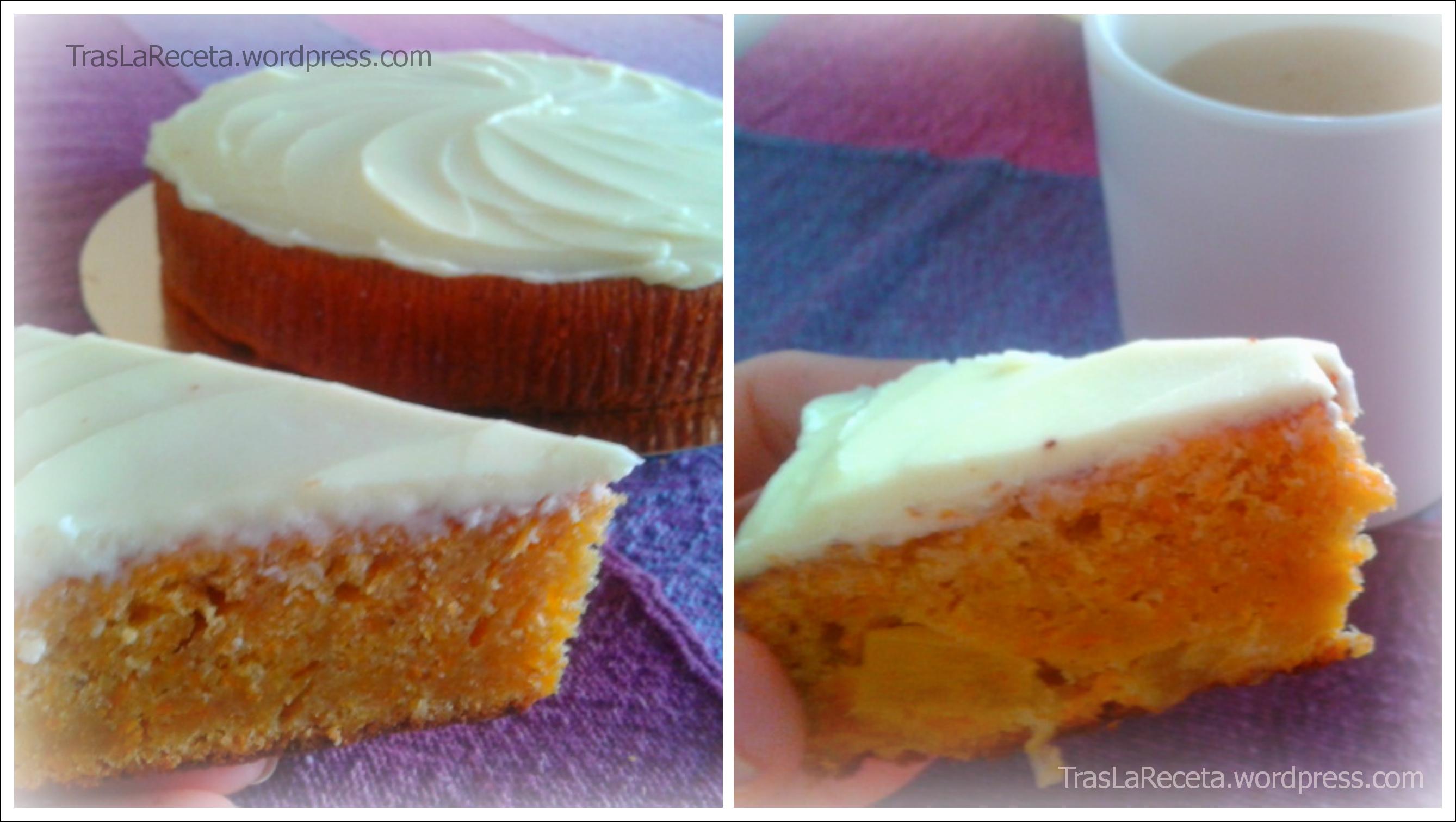 Tarta de zanahoria con cobertura de queso crema | tras la receta